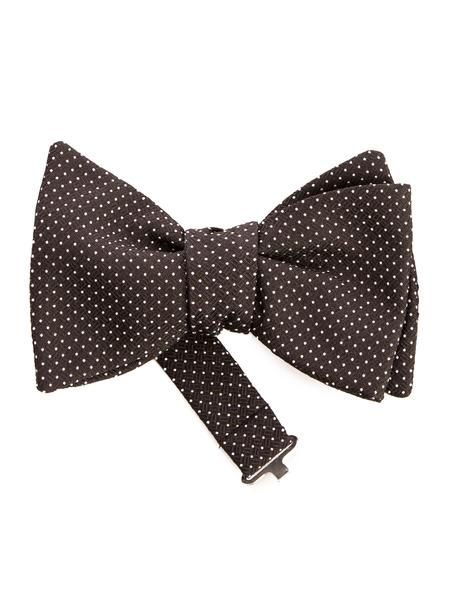 Pre tied bow tie - White dots on mint coloured twill Notch lKUeSska