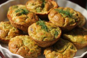 Avocado & Salmon Frittata Muffins