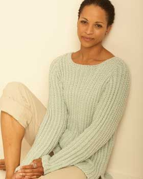 Textured Pullover - Free Knitted Pattern - (favecrafts)