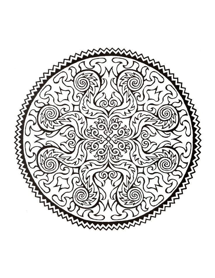 146 best images about colouring pages mandala on pinterest - Things To Color