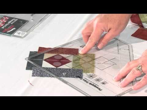 "Quilt Show Tutorials: Creative Grid Pineapple Trim Tool - YouTube-video 11:05min This demonstration was recorded during West Michigan Quilter' Guild's, ""Quilts on the Grand"" show in October. This tutorial shows how easy it is to use the Pineapple Ruler."