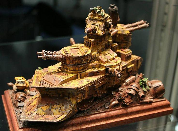 Warhammer 40k   Orks   Gretchin Tank #warhammer #40k #40000 #wh40k #wh40000 #warhammer40k #gw #gamesworkshop #wellofeternity #miniatures #wargaming #hobby #tabletop