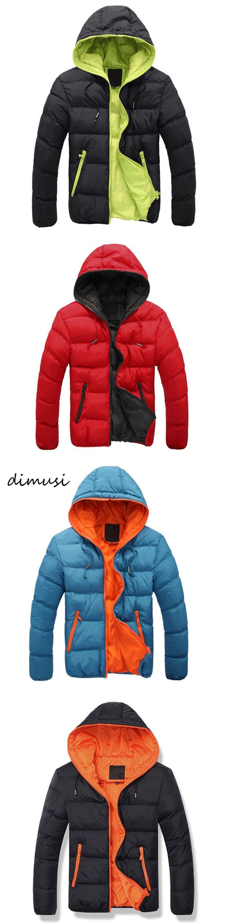 DIMUS 2017 Winter Jacket Men's Warm Coat Jacket mens Parkas Jackets Men's coat Zipper Stand collar jacket men Size 4XL PA059
