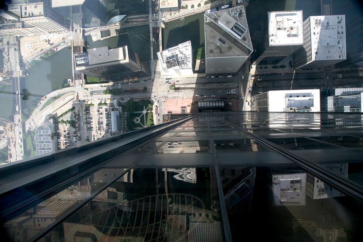 View down from the Willis (Sears) Tower Skydeck
