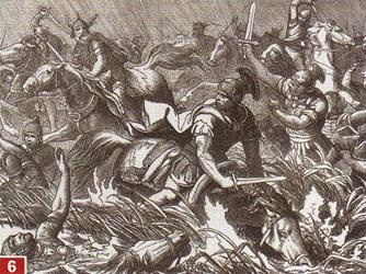 Battle of Adrianople - Fritigern was an Arian Christian, Roman ally. A Thervingian Gothic chieftain who found he was unable to keep the Huns at bay, Fritigern asked Valens to allow his people to enter and settle in Roman territory. However, the Roman governors treated the refugees poorly, and at a feast, executed some and took others, including Fritigern, hostage. Fritigern escaped and declared war on the Roman Empire. Battle of Adrianople resulted in death of Emperor Valens.