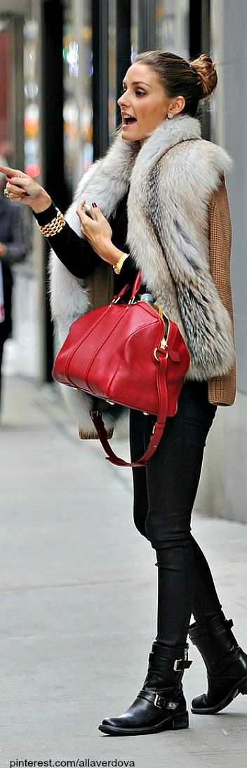 Street style - Olivia Palermo does fur right. Looking forward to wearing that amazing vintage coat I found last weekend!