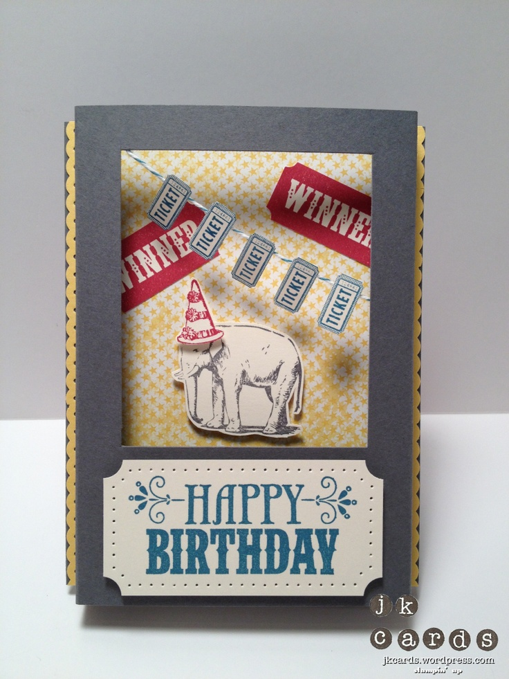 Stampin' Up!, 3D Window Card, You're Amazing, Ticket Builder Duo Punch, Dotted Scallop Ribbon Border Punch, 1/2 Circle Punch, Essentials Paper-Piercing Pack, Island Indigo Bakers Twine