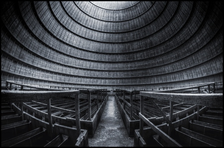 Samyang 8mm fisheye, inside of an old cooling tower