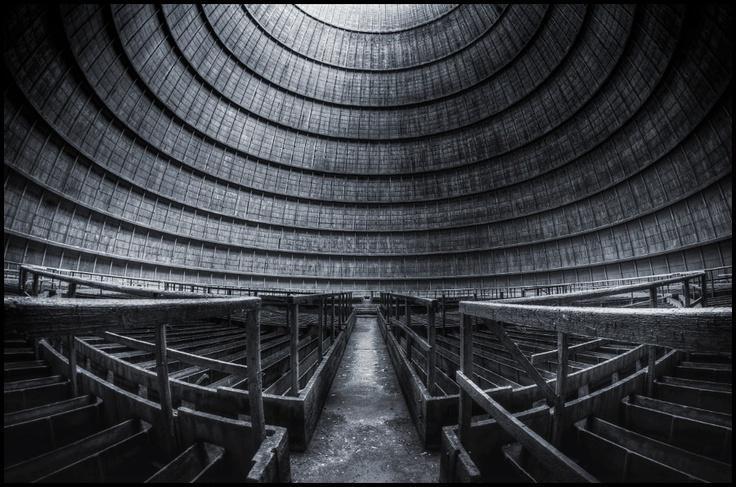 Samyang 8mm fisheye, inside of an old cooling tower