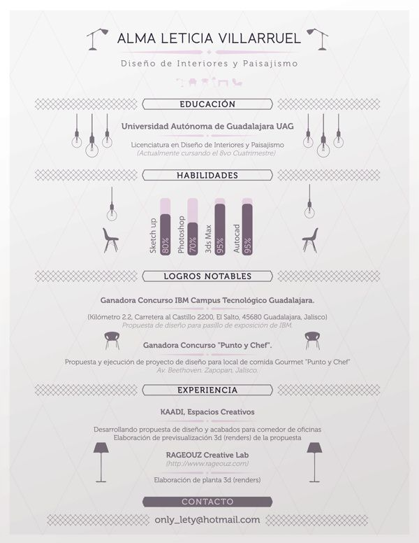 Interior Designer Resume By Julio Lpez Via Behance