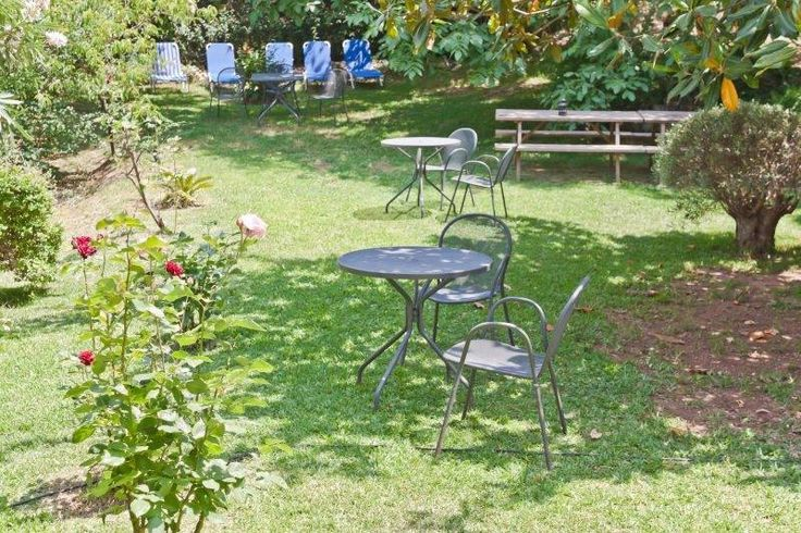 The yard of Rema Robi is a great place to relax