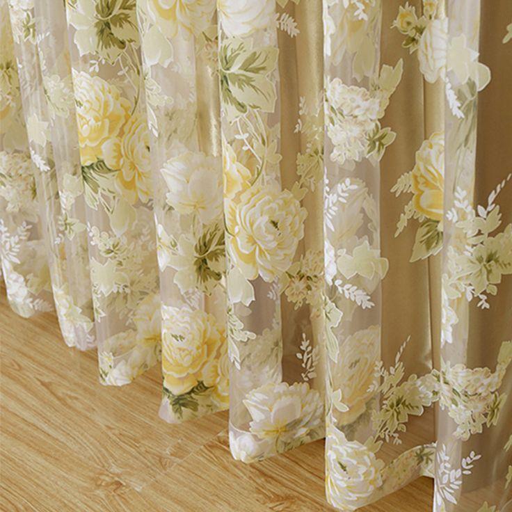 2015 Hot sale rosa luxo moderno janela de tule cortinas para sala de estar do cozinha blinds sombra windows tratamentos(China (Mainland))