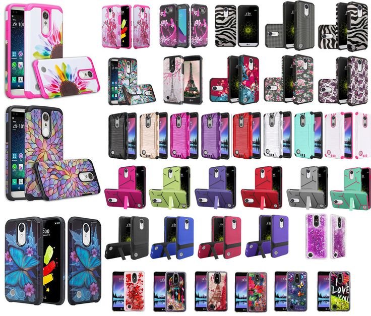 LG Harmony Slim Hybrid Hard Case Shockproof Cell Phone Cover Case Cricket #Unbranded