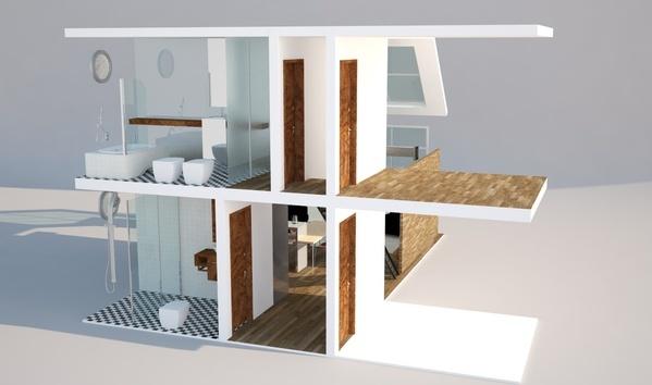 LOFT - Remodelagem... agora com Inox na cozinha... by Vitor Collos, via Behance