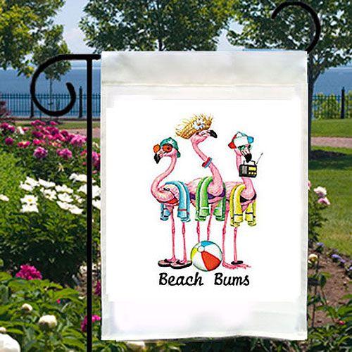 Beach Bums Flamingos – Yard Flag