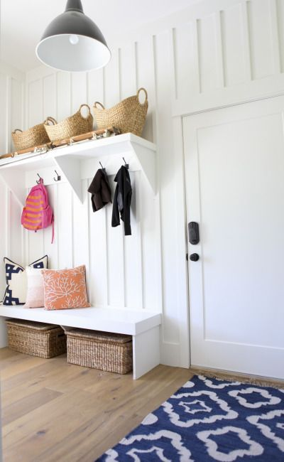 Pretty mud room: http://www.stylemepretty.com/living/2015/01/12/neutral-living-and-dining-room/ | Photography: Jylare Smith - http://www.jylare.com/