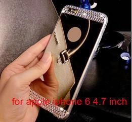 Bling Diamond Crystal Mirror TPU Soft Gel Case Back Cover Skin For Apple iPhone 5 5s 6 4.7'' 6 plus 5.5'' inch