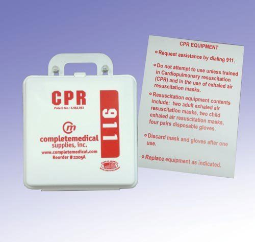 First Aid Kit-CPR Restaurant (New York State) w/Poster (Catalog Category: Emergency & First Aid Products / First Aid Kits) by Original Manufacture. $55.06. To meet New York State regulations this kit contains the following: 4 each Combination Child/Adult CPR Masks * 4 pair Nitrile Gloves * 1 CPR sign N.Y.S. * 1 labeled box (instructions as required) * All packed in a plastic first aid box