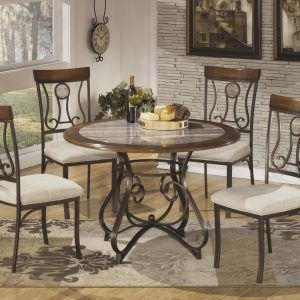 round kitchen table sets for 5