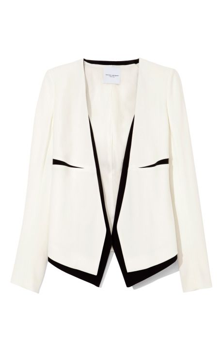 Narciso Rodriguez White And Black Sable Jacket