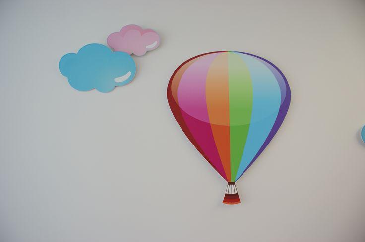 Balão Desenho em placa pvc com bi-adesiva