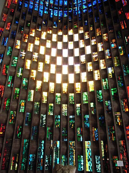 Coventry cathedral Stain glass window by John Piper