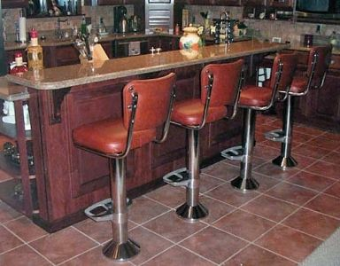 Floor Mounted Bolt Down Counter Stool Installation Bar