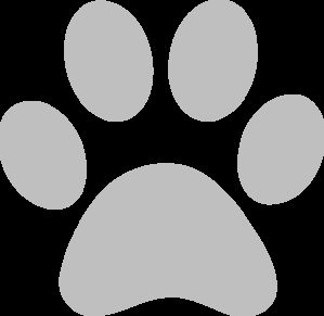 Image result for gray dog paw print clip art