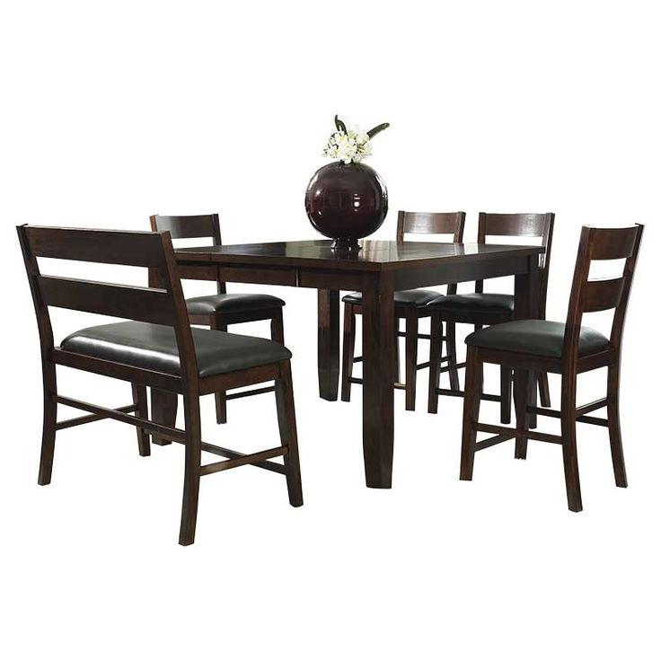 The Alpine Ridge 6 Piece Counter Set Has A Chic Modern Look With A Dark  Brown