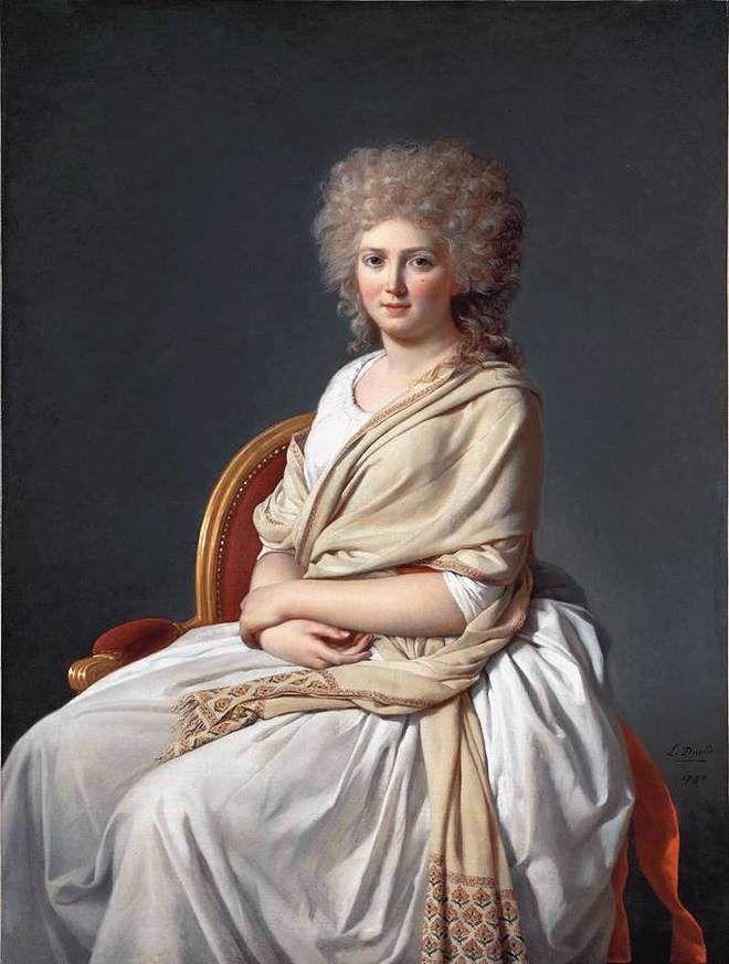 Anne-Marie-Louise Thélusson, Comtesse de Sorcy Jacques-Louis David - 1790
