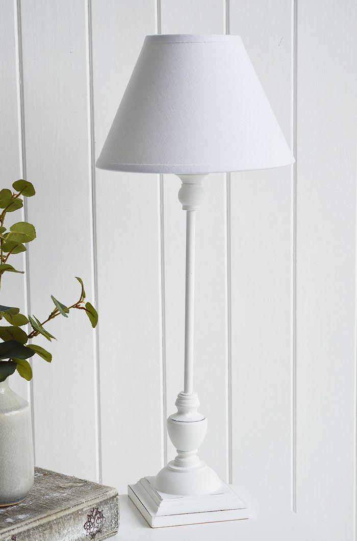 Freeport White Bedside Table Lamp For White Bedroom Furniture Thewhitelighthouse Whitelamp Bedside Table Lamps White Bedside Table Table Lamp