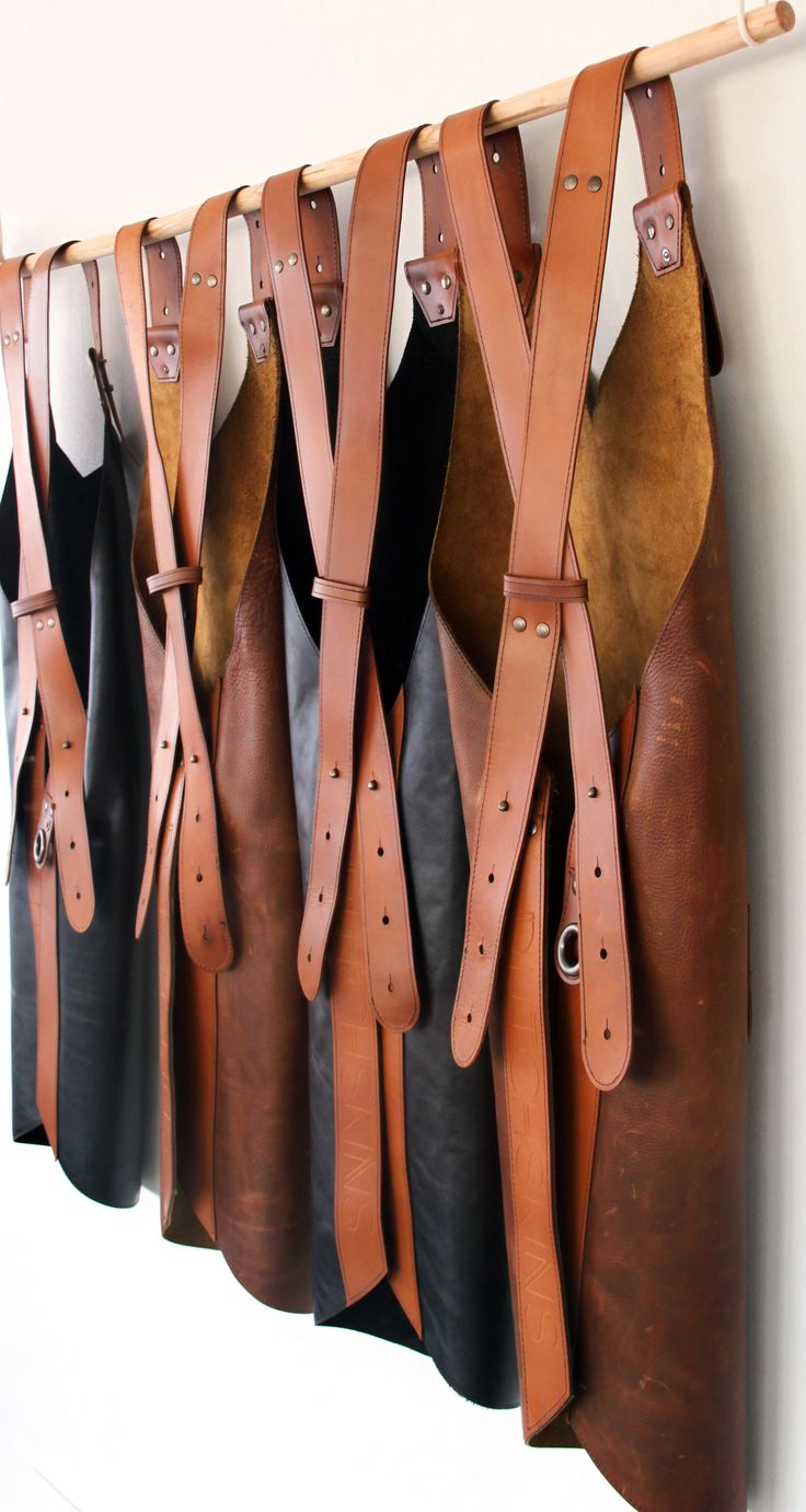 Apron leather by Dutchskins. #aprons #BBQ #barbeque #schorten #leer