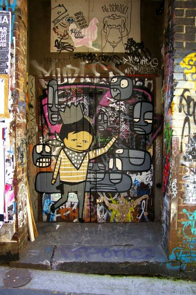 "Love this find- ages ago now , but local ""ghostpatrol"" and ""nelio"" in Hosier Lane"