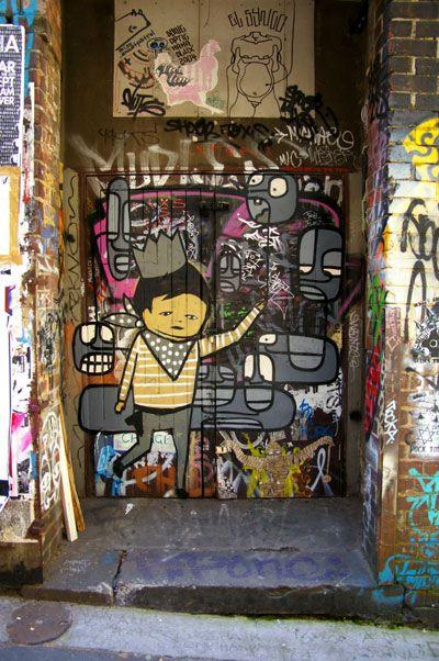 Hosier Lane graffiti heaven