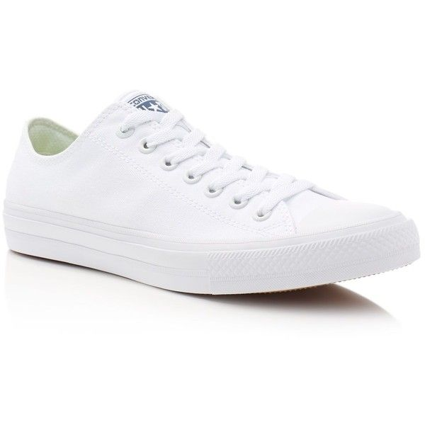 Converse Chuck Taylor Ii Sneakers ($70) ❤ liked on Polyvore featuring men's fashion, men's shoes, men's sneakers and white