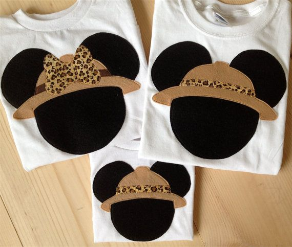 Disney Clothes for the Family Minnie or Mickey Mouse Safari Shirts Set of 3 - Animal Kingdom - Disney - Shirts 6 month - Adult 3X on Etsy, $68.00