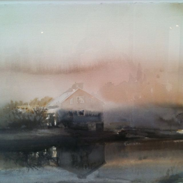 Amazing water colours by Lars Lerin