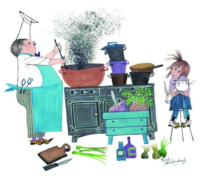 Otje geschreven door Annie MG Schmidt, tekeningen van Fiep Westendorp/Otje written by Annie MG Schmidt, illustrated by Fiep Westendorp.