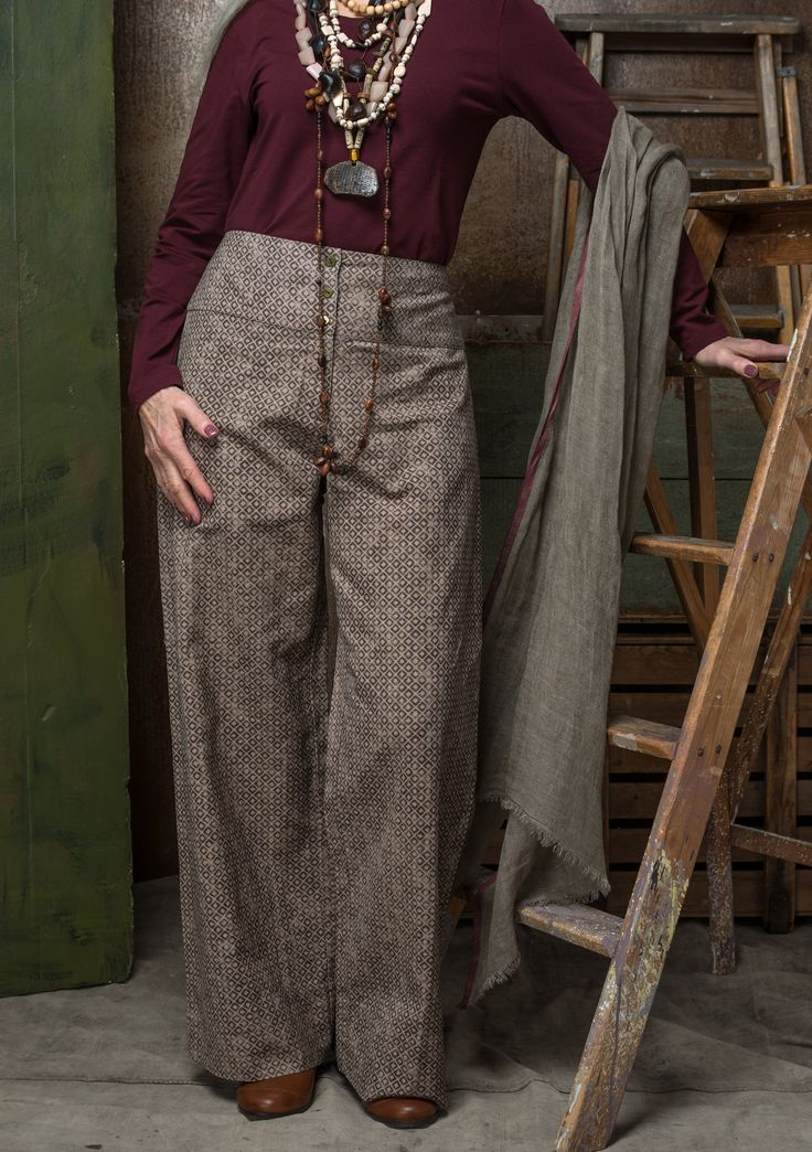 """Sigrid"" pants in linen/cotton – Trousers – GUDRUN SJÖDÉN – Webshop, mail order and boutiques 