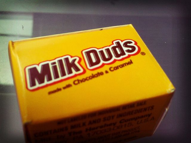 The Best Movie Theater Food, In Order (PHOTOS). --> An older article but, I mean...Milk Duds!