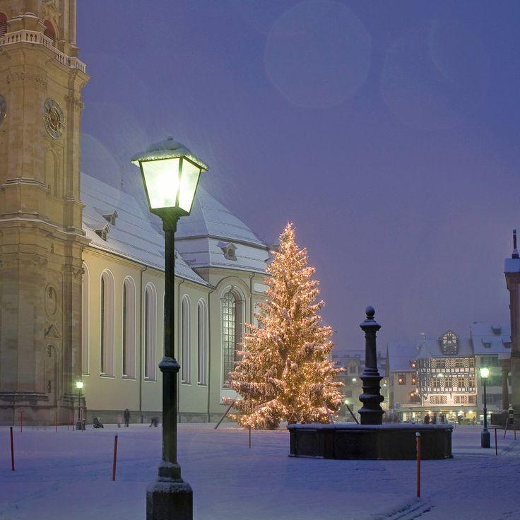 Weihnachtsbaum Klosterbezirk St.Gallen.