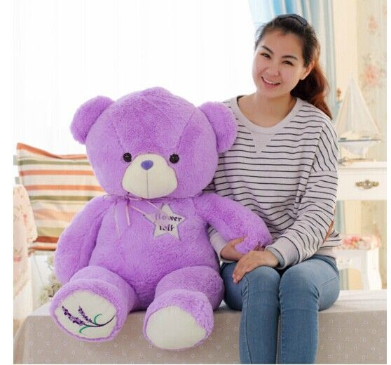 big purple teddy bear toy lovely lanvender bear toy cute bear toy gift doll about 100cm //Price: $US $56.69 & FREE Shipping //     #clknetwork