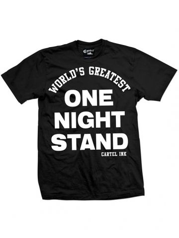 "Men's ""Worlds Greatest One Night Stand"" Tee by Cartel Ink (Black)"