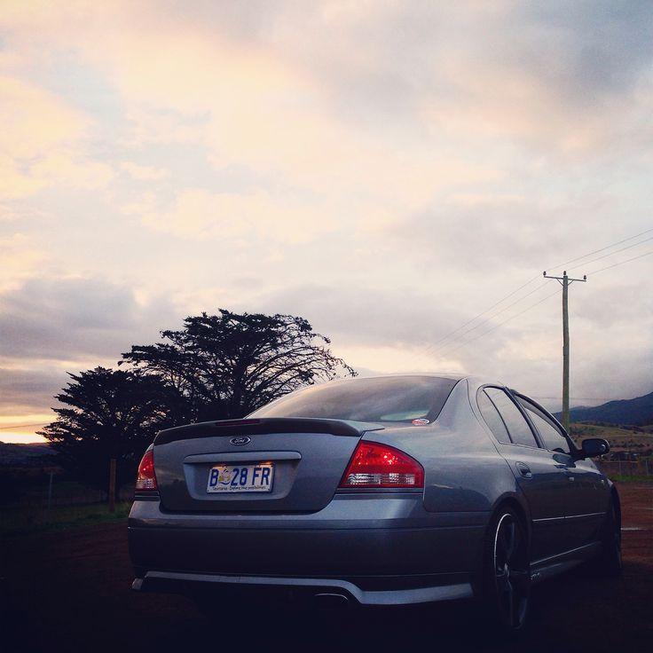 Our #xr6turbo at #Sunset in #Brighton #Tasmania #Australia - #Ford Falcon #boost #turbo #barra
