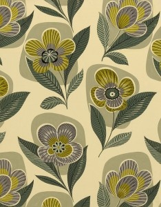 50s textile design; designer unknown. via eoh art & design