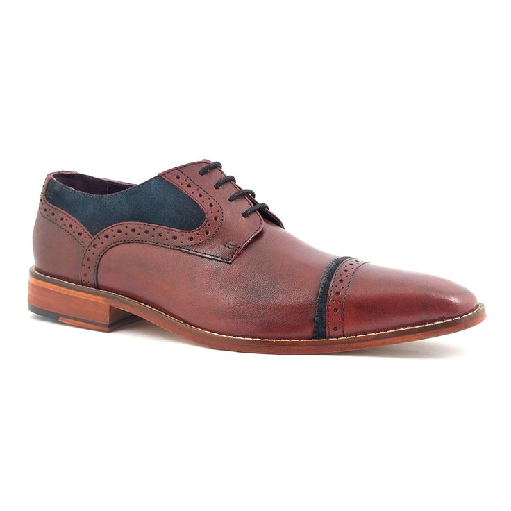 Find burgundy navy suede two tone brogue shoes for men. Deep wine and classic navy derby with leather sole. £89.95. Free UK del. Overseas del.