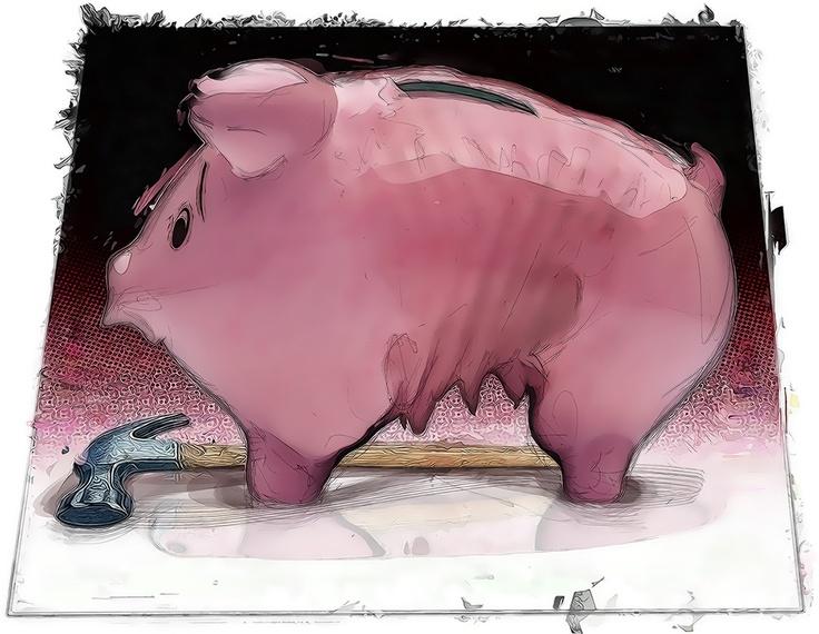 This illustration is called 'Cris Piggy'...