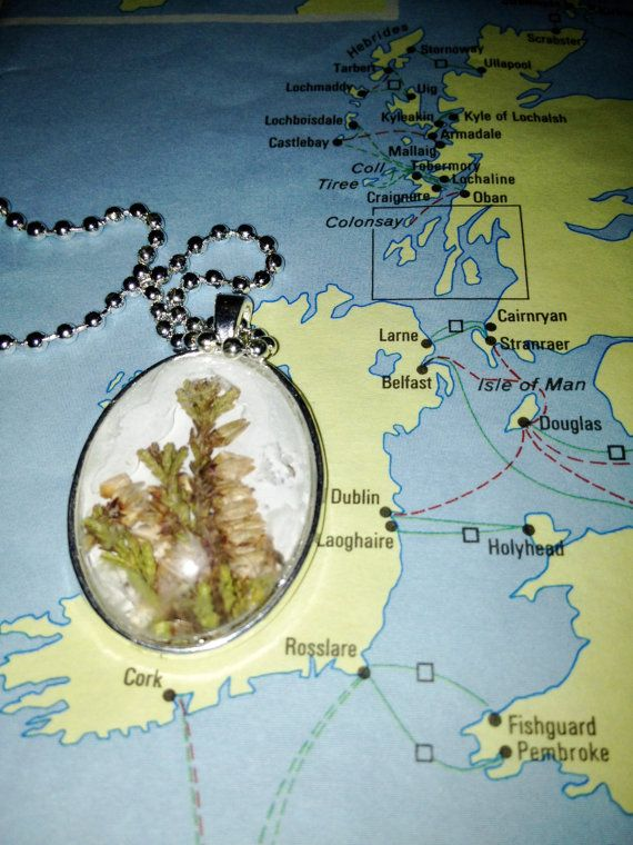 Irish Heather Pendant Necklace by joytoyou41 on Etsy, $25.00: Pendant Necklace, Pendants Necklaces