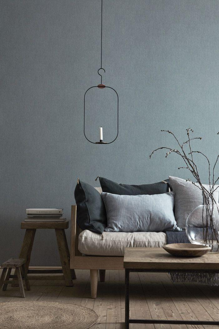 Borastapeter Linen wallpaper blue