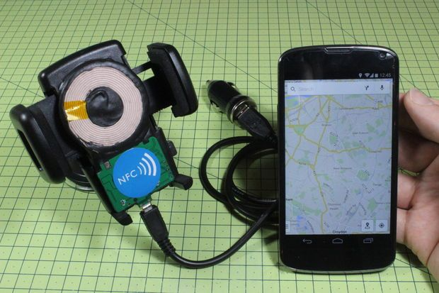Picture of DIY Wireless Charger + NFC Dock For Your Car